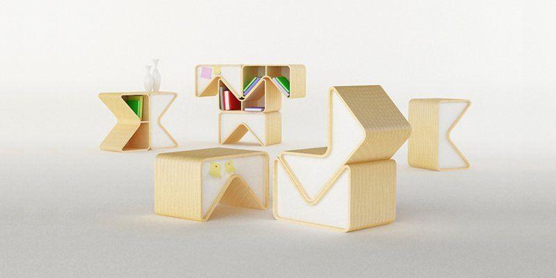 Muebles modulares de Cho Hyung Suk | Muebles transformables ...