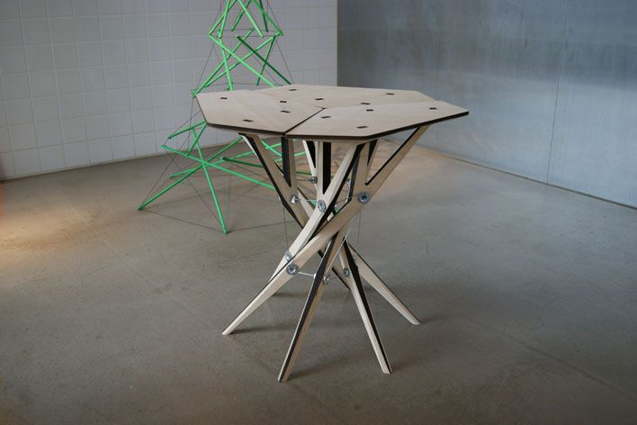 U0027Tensegrityu0027 Table By AuthaGraph At Any Tokyo. Photography: Ali Morris