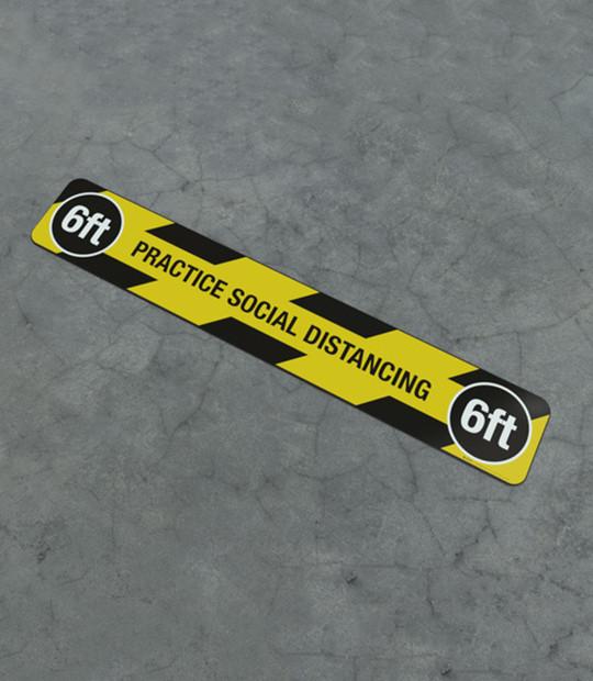 Practice Social Distancing floor strip to help improve