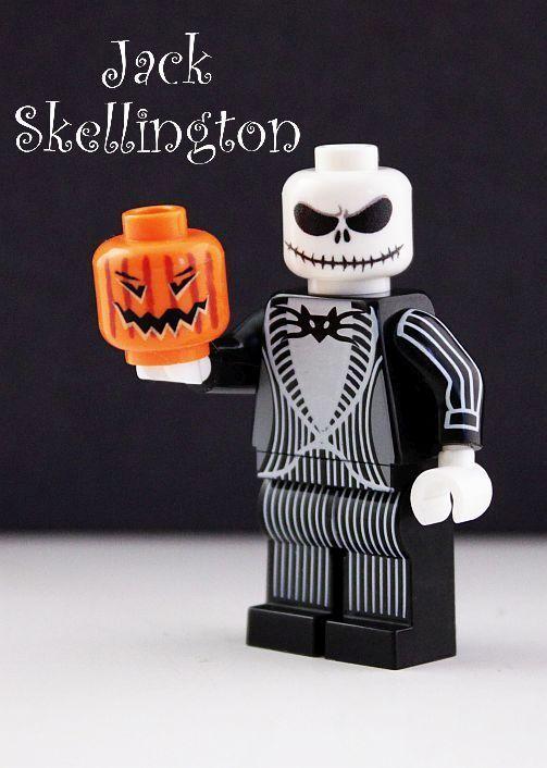 custom jack skellington minifigure and lego pumpkin nightmare before christmas