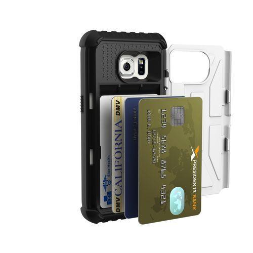 Samsung Galaxy S7 Card Case, White-Black