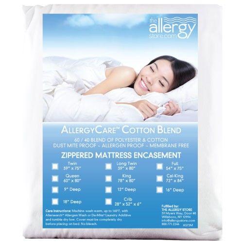 Allergycare Allersoft Cotton Blend Crib Encasing Dust Mites Cotton Mattress Cotton Blend
