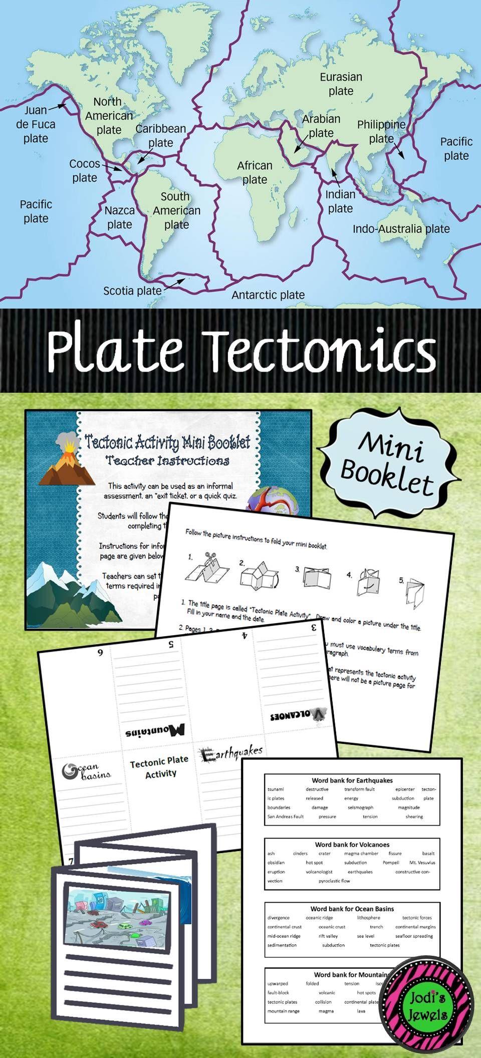 Tectonic Activity Mini Booklet Elementary Science Activities Activities Elementary School Science [ 2112 x 960 Pixel ]