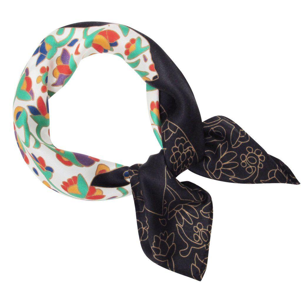 Dawn Oman Spring Bear Silk Neckerchief - Available Apr 2017