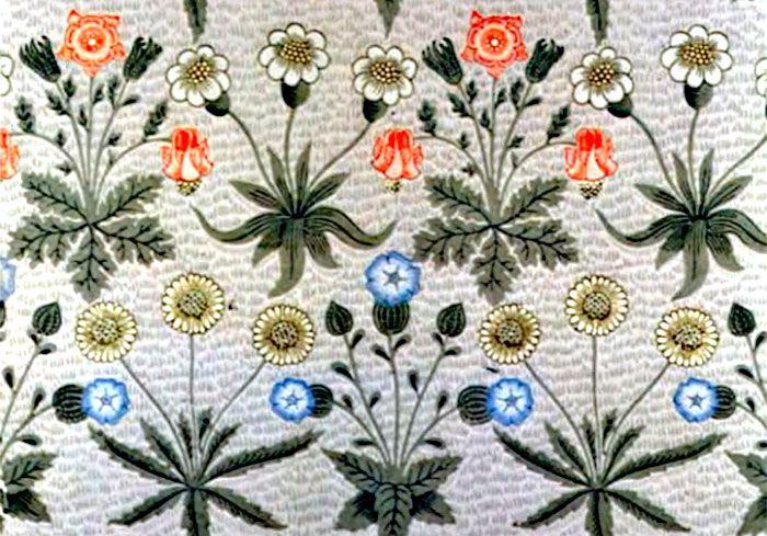 William Morris Daisy Wallpaper c. 1860's (victoriana