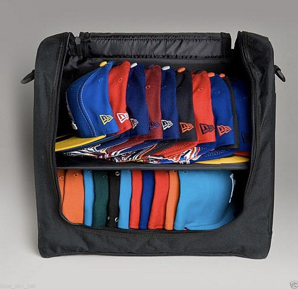 New Era Cap Hat Carrier Fitted 59fifty Snapback 9fifty Holds 24pack Storage Case Diy Hat Rack Baseball Hat Storage Hat Organization