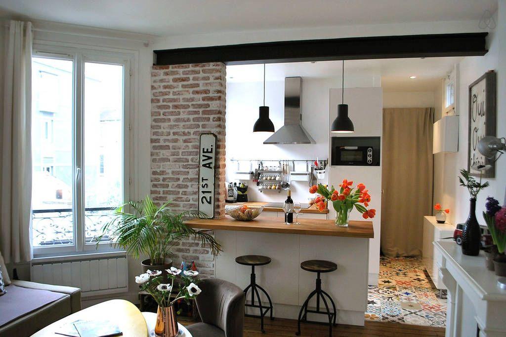 Cuisine ouverte sur le salon maison Pinterest Salons, Kitchens - cuisine ouverte sur salon m