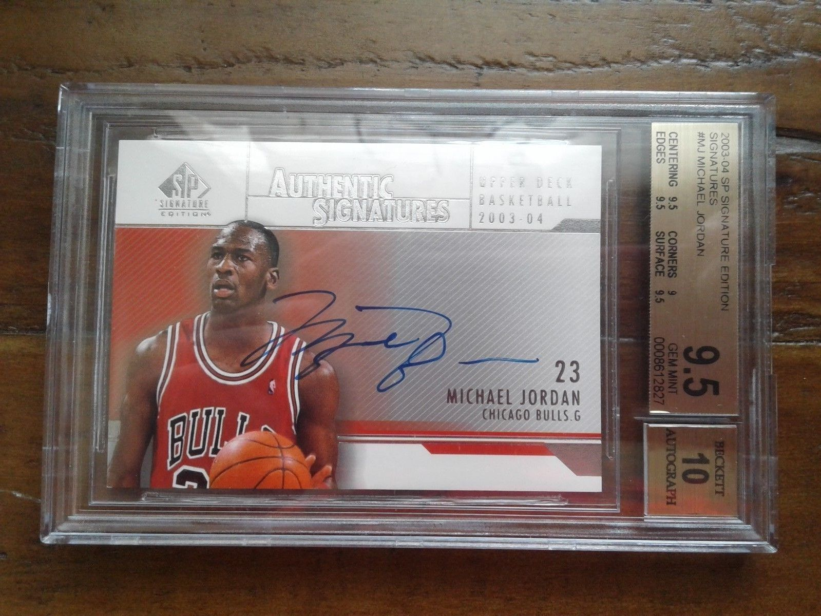 Michael Jordan 2003-04 SP Signature Edition Auto BGS 9.5/10 Bulls