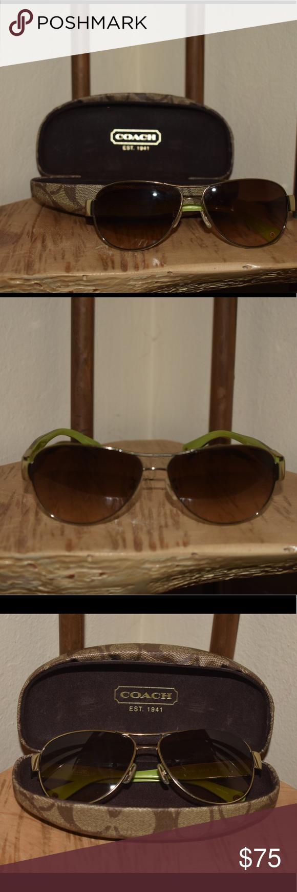 a03bf39ae7 Coach Charity Aviators Coach Charity aviator sunglasses.
