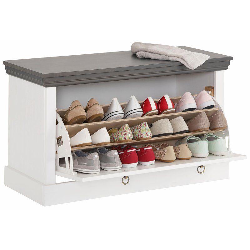 Banc Coffre Range Chaussures En Pin Massif Home Affaire Basilico Banc Avec Rangement Chaussures Rangement Chaussures Mobilier De Salon