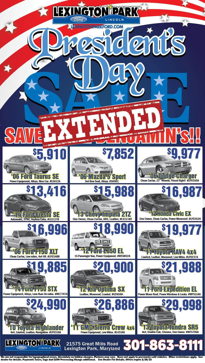 Presidentsdaysalesevent Lexingtonparkfordlincoln Maryland Ford Lexington Park Ford News Honda Civic Ex