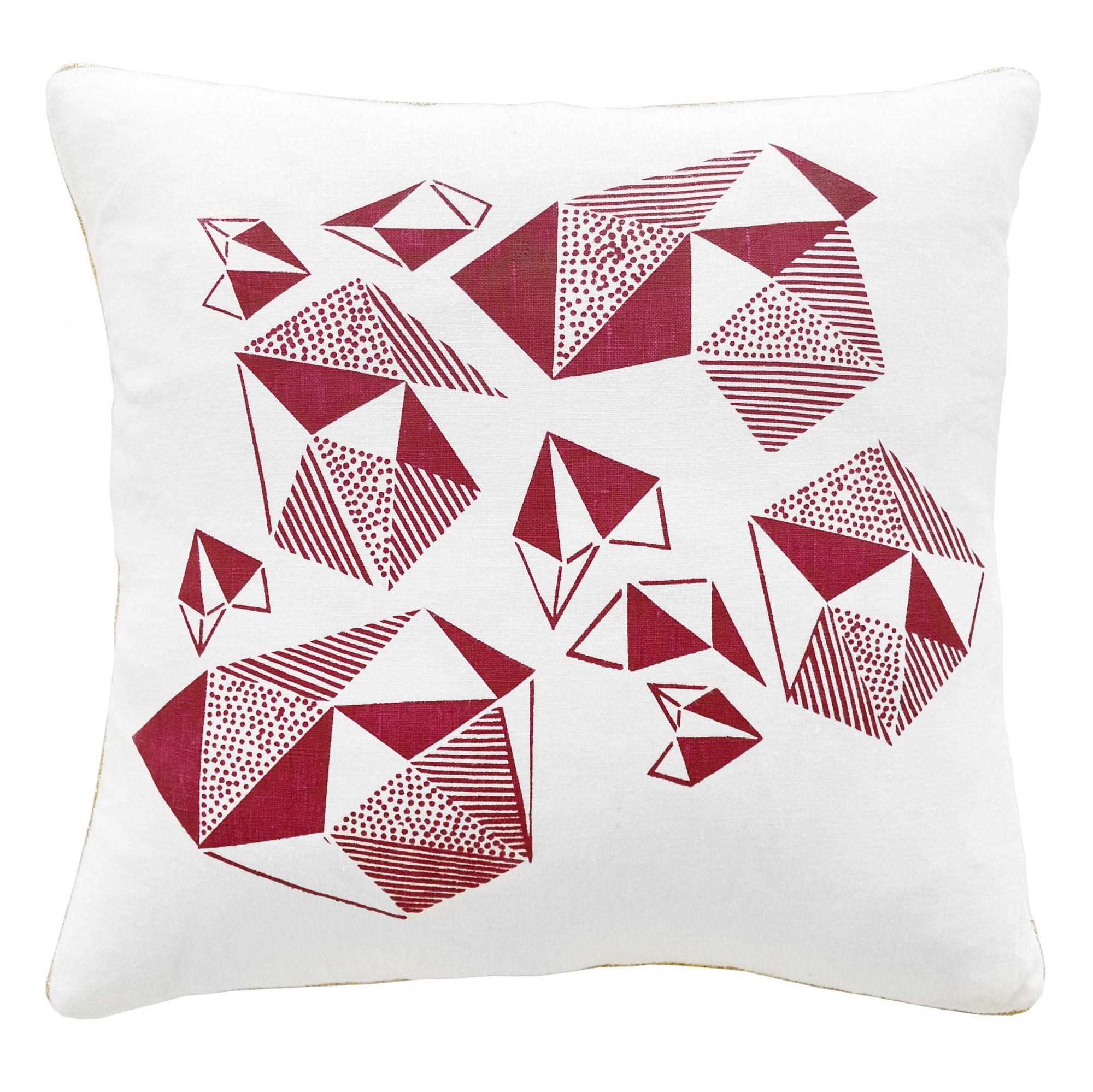 Pattern Play Screen Print Cushion Cover  Fushia