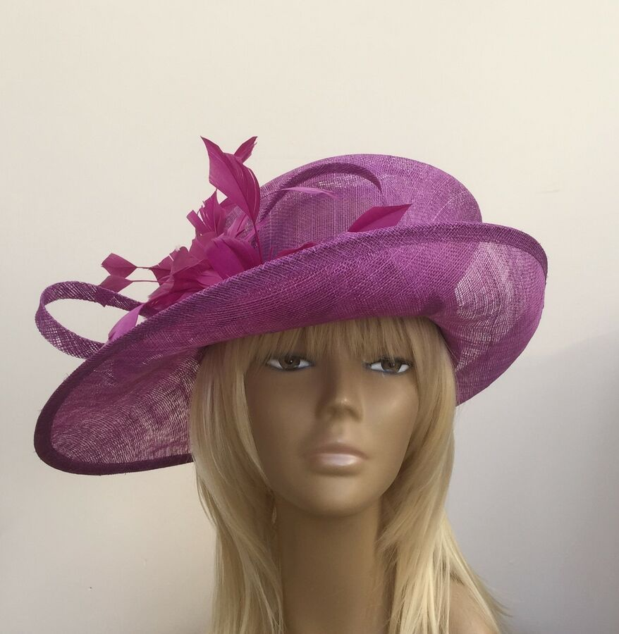 f2edc02f2ca New Crocus Womens Sinamay Wedding Hat Mother Of The Bride Groom Ascot Races  Wedding