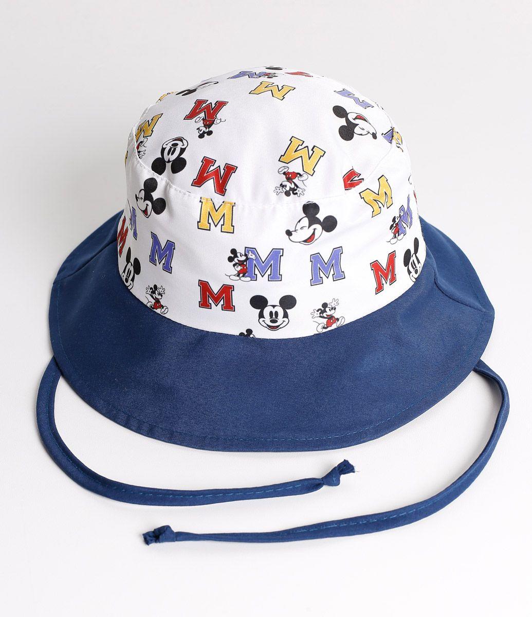 Chapéu infantil Autraliano Estampado Marca  Mickey Mouse Tecido  microfibra  TABELA DE TAMANHOS P – 0 a 6 meses M – 6 a 12 meses G – 1 a 4 anos Veja  outras ... 9476eeda22d