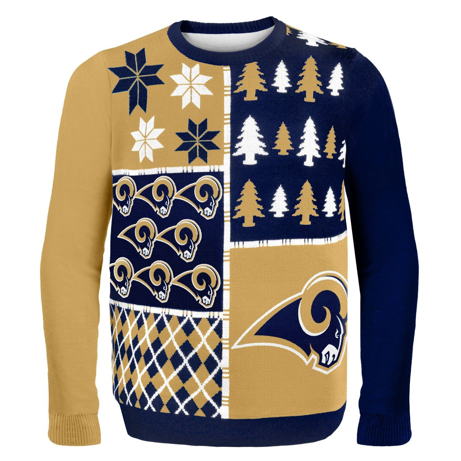 NFL Busy Block Ugly Sweater – St. Louis Rams