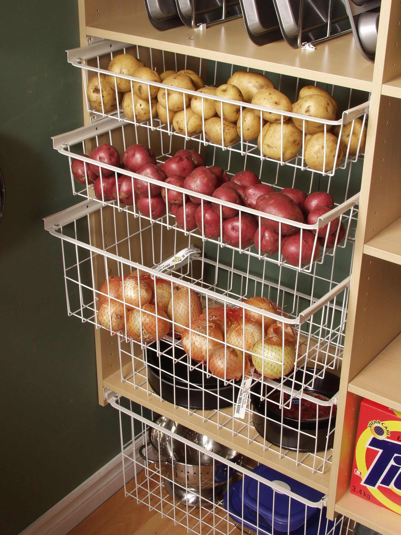 Pantry Slide Out Baskets For Vegetables
