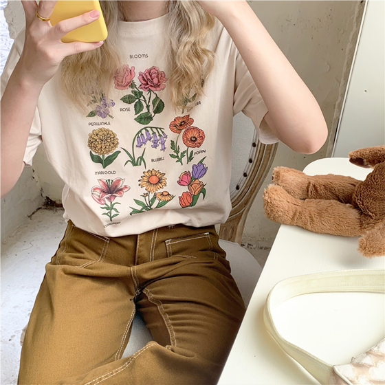 Wild Flowers Collage T Shirt Artsy Aesthetic 3 Artsy Outfit Artsy Style Aesthetic Clothes