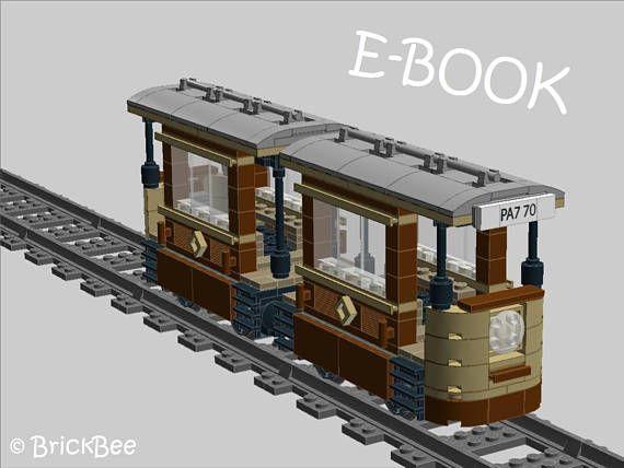 pdf bauanleitung f r ein modell aus lego steinen stra enbahn lego ideen pinterest. Black Bedroom Furniture Sets. Home Design Ideas