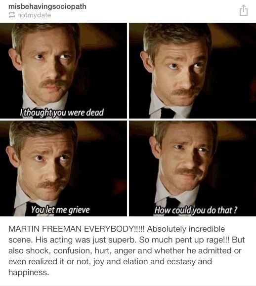 (Gifset) http://misbehavingsociopath.tumblr.com/post/71912117965/martin-freeman-everybody-absolutely
