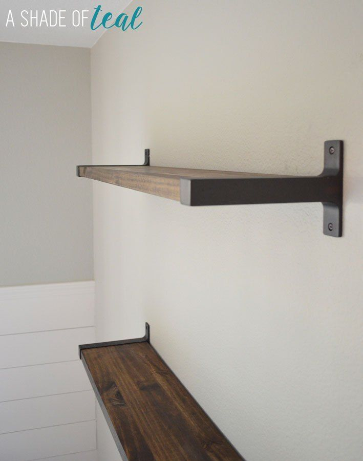 Photo of Rustic DIY Bookshelf with IKEA Ekby Brackets