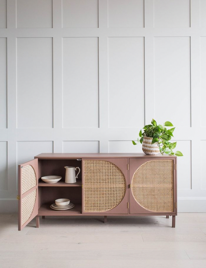 Wood Cane Webbed Dresser Rose Grey Diyfurniture Diy Furniture Renovation Furniture Vintage Furniture