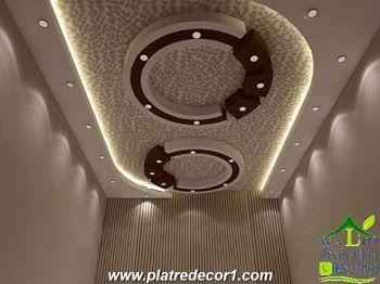 decoration platre moderne  platre maroc in 2019  False ceiling design False ceiling living