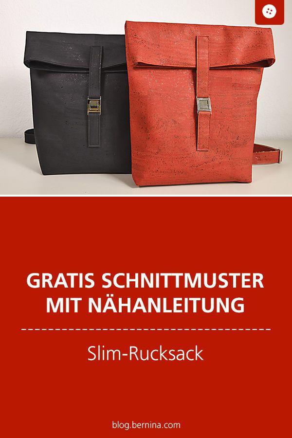 Gratis Schnittmuster mit Nähanleitung (Freebook): Slim-Rucksack nähen Video-Tutorial  #diytutorial