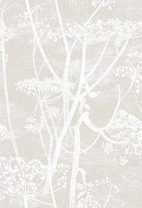 Cow Parsley Pale Grey Wallpaper By Cole U0026 Son