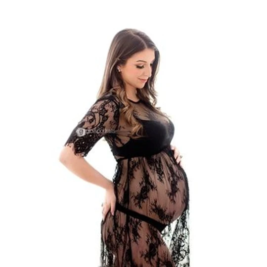 Le Couple Summer Maternity Dresses Lace Maternity Dress for Photography Pregnant Women Dresses Fancy Maternity Photo Shooting  – Maternity Fashion