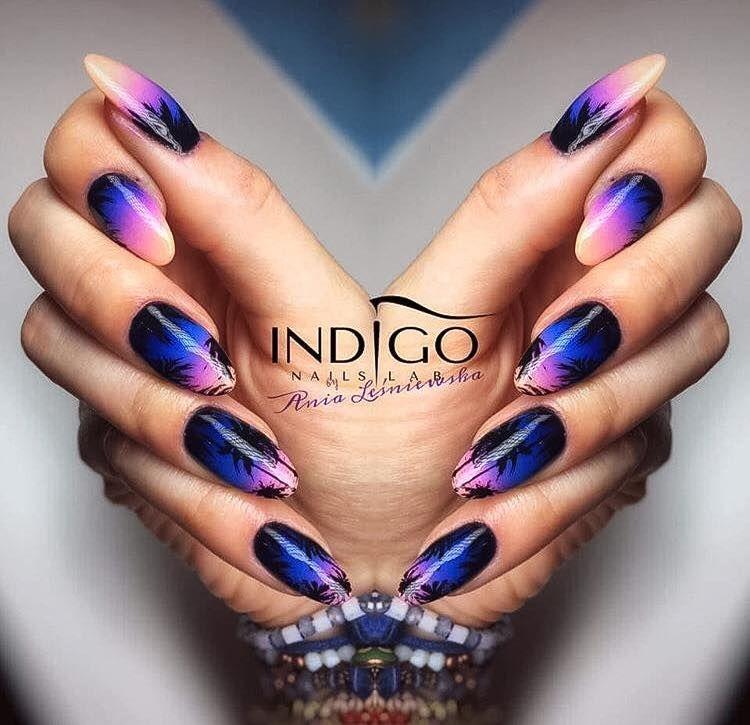 by Indigo Educator Anna Leśniewska #nails #nail #nailart #ombre ...