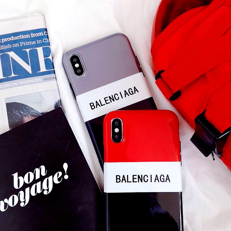 df0ab73e5d ストリート系バレンシアガiphonexケースBalenciagaバイカラー3色ブランド携帯カバー男女アイフォン8plusカップル向け