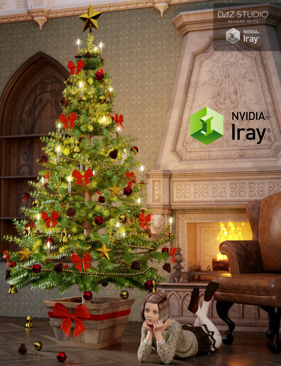 Victorian Christmas Tree converted and updated to Iray for DAZ ...