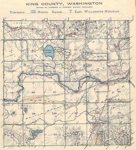 King County Washington township 22 North range 7 East circa 1907