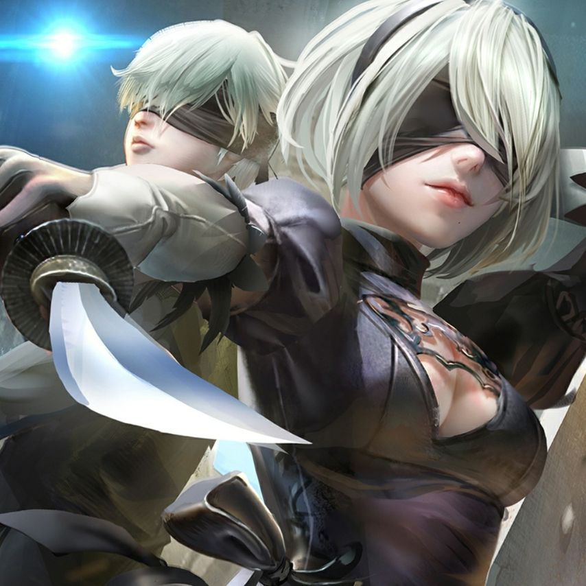 2b And 9s Nier Automata Wallpaper Engine Free Live Wallpaper