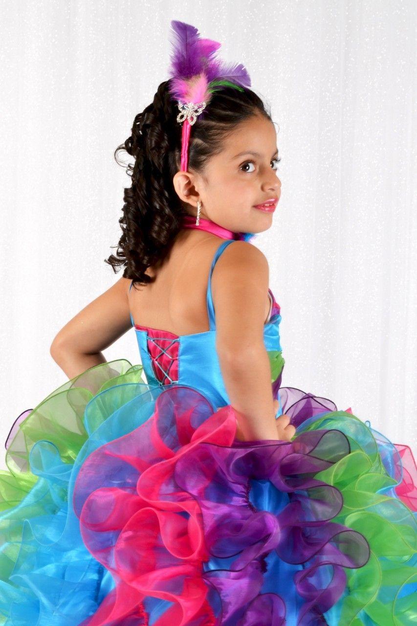5d768c509 Flower Girl Vestido de Arcoiris y Mariposa