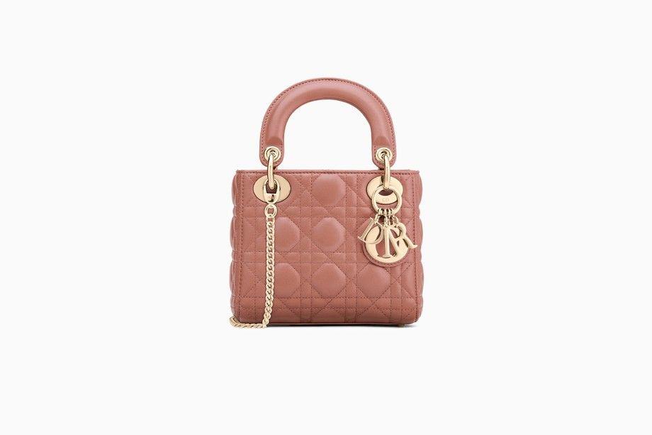 Mini Lady Dior Bag In Pink Lambskin