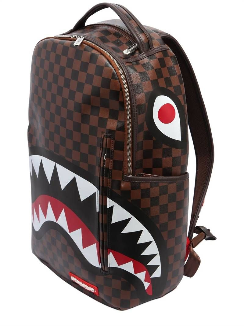 SPRAYGROUND - SHARK IN PARIS FAUX LEATHER BACKPACK - MULTICOLOR ... c79c1503b0d3e