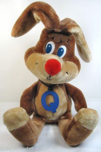 """Nestles Quik Bunny Rabbit 17"""" Plush Stuffed Animal Toy 1985"""