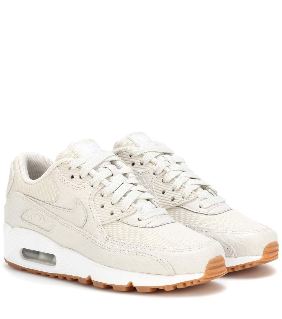 Nike Air Max 90 beige leather sneakers | Mode