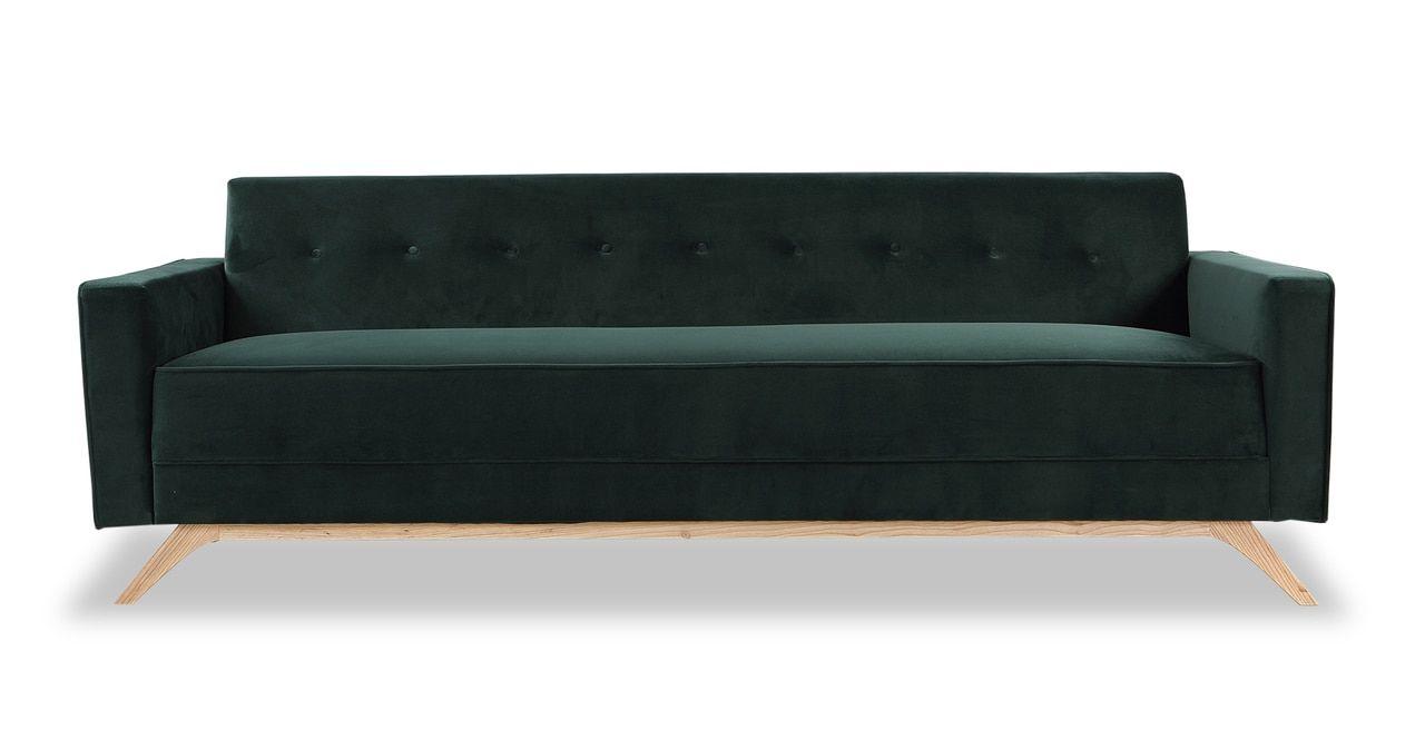 "Bauhaus 90"" Modern Fabric Sofa, Jade Fabric sofa, Sofa"