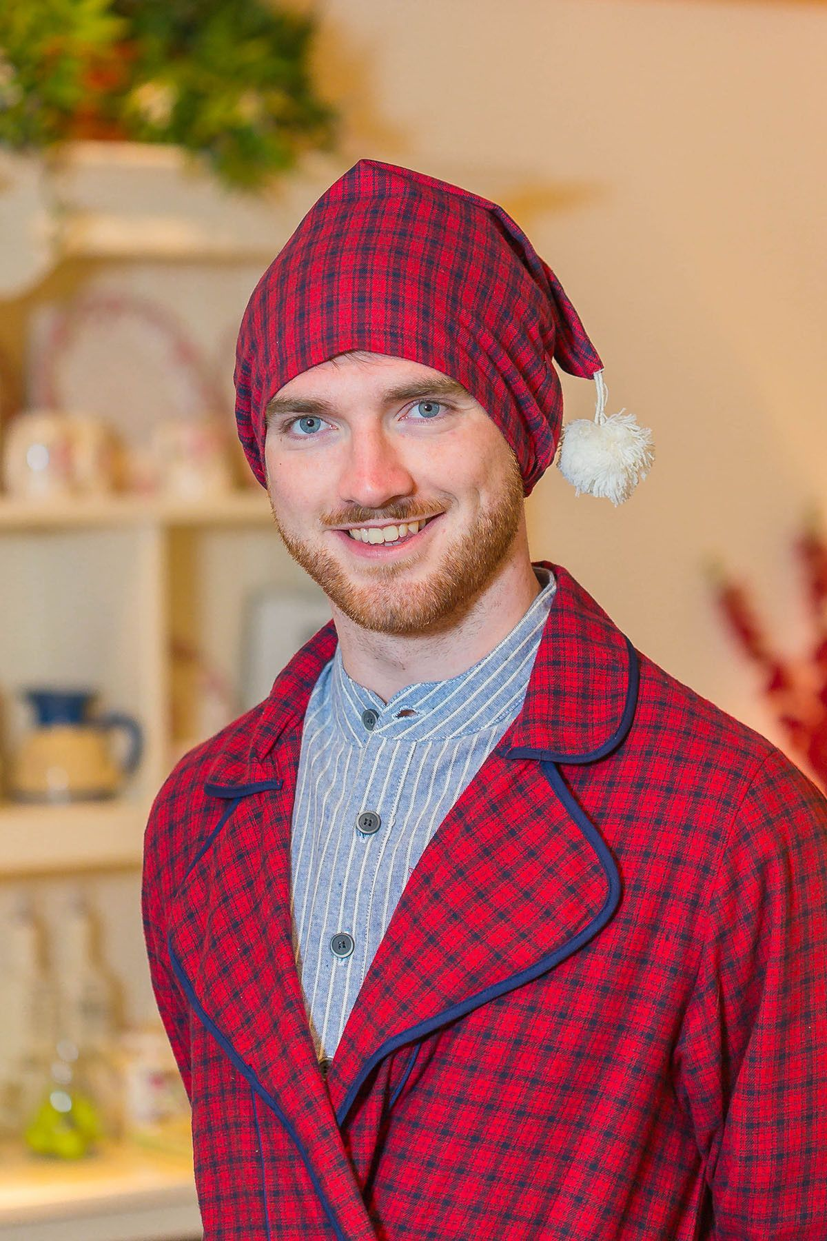 Nightcap Irish Country Flannel Mens SF2 Red/Navy Check