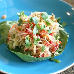 A light wonderful Thai Green Papaya Salad (Som Tum). Refreshing, and tasty!