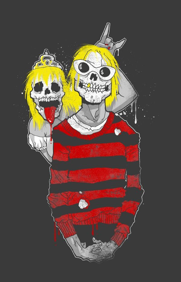 kurt-and-courtney-skeleton-musicians-love-paulo-rocker   Luv   Pinterest