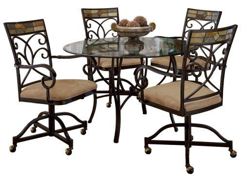 Marvelous Hillsdale Pompei 5 Piece Dining Set With Caster Chairs By Hillsdale  Furniture. $1077.80.
