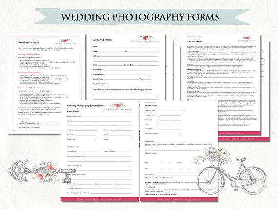 Photography wedding contract - wedding photography contract package