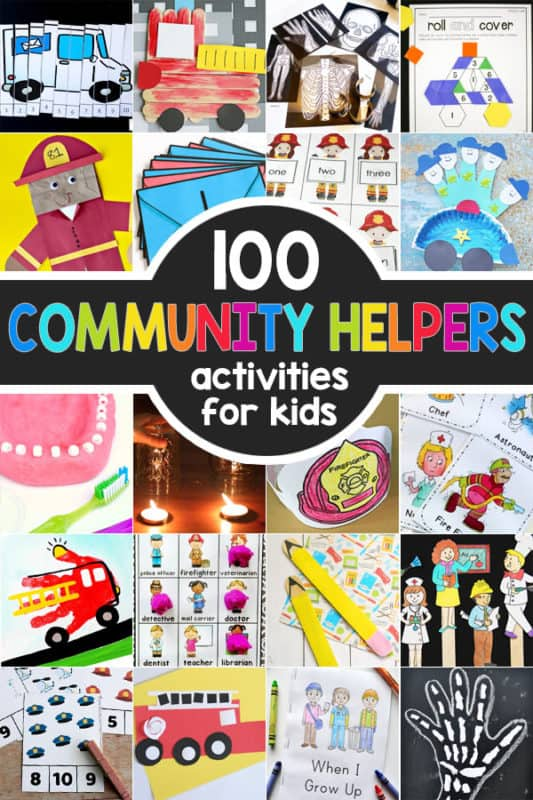 Community Helpers Theme with Crafts, Activities, Free