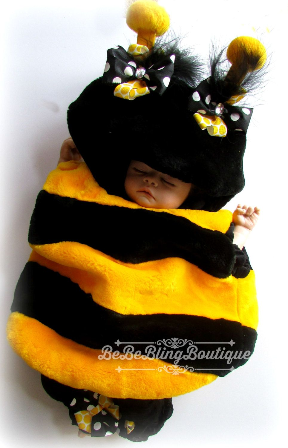 Baby Girl Halloween Costume Bumble Bee Costume 12 month Girl Costume 24 monthu2026  sc 1 st  Pinterest & Baby Girl Bee Halloween Costume READY to SHIP Bee Costume 12 month ...