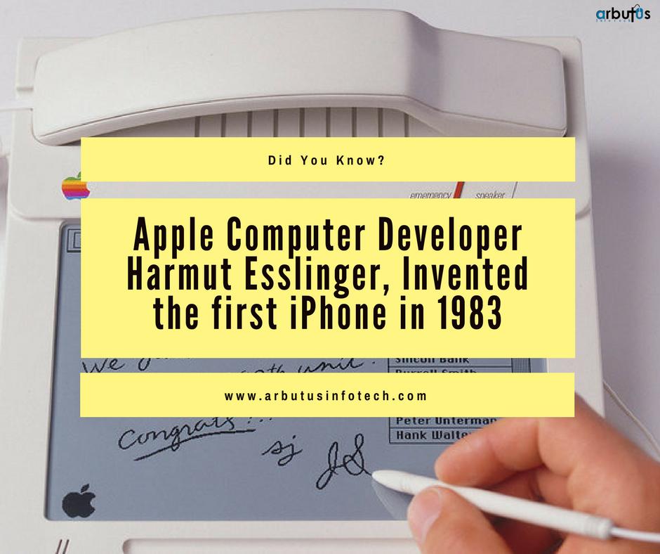 Apple Computer Developer Harmut Esslinger, Invented The