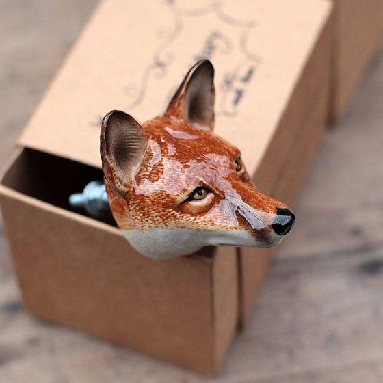 fox knobs - Google Search   Fox Decor   Pinterest   Fox decor and Foxes