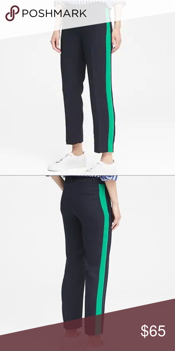 a6cc2b2d0cca1 Banana Republic Avery Pants Worn Once. Avery Straight-Fit Side-Stripe Ankle  Pant